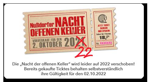 NACHT DER OFFENEN KELLER - VERSCHIEBUNG AUF 2022